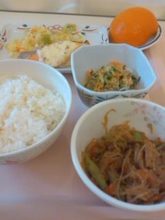 入院1日目の昼食