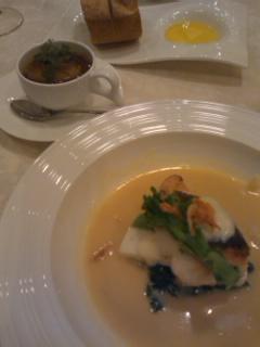 魚とフォアグラ
