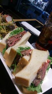 木村屋の喫茶のサンドイッチ