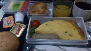 最後の機内食朝