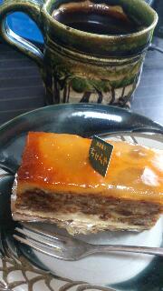 ケーキの朝食